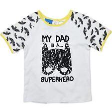 "NEW Licensed Baby/Infants Batman T-Shirt ""My Dad is a Superhero"" Sizes 6M-24M"