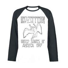 Mens Led Zeppelin - Usa 77 NEW LS Baseball Shirt