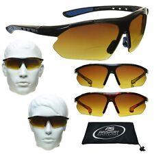 HD Bifocal Sports Golf Sunglasses Glasses Blue Blocking Driving HD +1.00 - +3.00