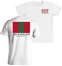 Phi Kappa Psi Fraternity Flag Bella + Canvas T Shirt NEW