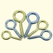 0#-14#  Zinc Plated/Brass Eye Pins Eyepins Hooks Eyelets Screws Threaded Peg