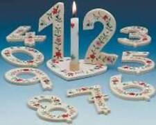 Holz Geburtstagszahlen Holzzahl 90mm Jubiläum Fest für Torten Tisch Deko & Herz