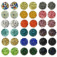 5 beads perles paillettes Disco Boule Bead Boule de Cristal Bracelet Bricolage