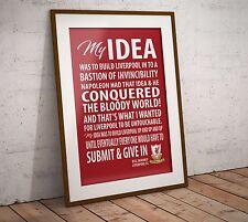 Bill Shankly Inspirational Speech Liverpool A4 or A3 Print Poster Wall Art