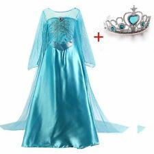 Kleid Mädchen Elsa Prinzessin Kleid Cosplay Kind Phantasie Halloween Kostüm