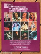 retro magazine advert 1983 SHURE microphones