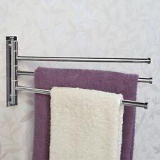 Signature Hardware Colvin Quadruple Swing Arm Towel Bar In Brushed