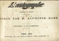 Revue l'AUTOGRAPHE 1872