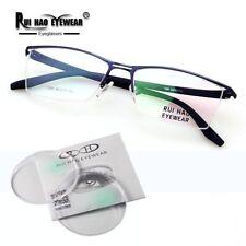 Glasses Eyewear Eyeglasses Halfrim Frame Alloyed Spectacles RX Resin Lens Oculos