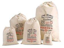 Personalised YOUR NAME Christmas Gift Bag Santa Sack All Sizes Francesca Design