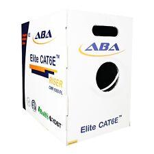 Cat6e Riser CMR 24AWG UTP, 600MHz, Solid Bare Copper 1000FT. Ethernet Cable