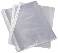 A4 Plástico Transparente Mangas tipo billetera de presentación carpeta perforada bolsillos Libre P&P