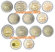TODAS LAS MONEDA DE 2 EUROS CONMEMORATIVAS 2007 TRATADO DE ROMA UNC SIN CIRCULAR