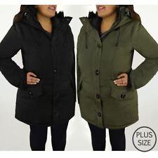 Womens Plus Over Size Large Parka Winter Warm Jacket Coat Long Detachable Hood