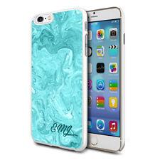 personnalisé marbre étui de téléphone pour apple Samsung Initiale Texte Nom - 44