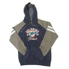 NFL Women's New Miami Dolphins Hoody Sweatshirt  Small-2XL Distressed Football