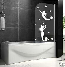 Baño Adhesivos de PARED SIRENA PEGATINA Mampara ducha n134