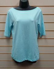 Heine Blue Top Size 10 Soft Jersey  BNWT G016