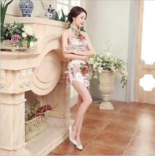 New sexy Charming Chinese women's silk/satin  mini dress Cheongsam Size: S-XXL