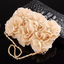 Flower Leather Purse Wallet Bling Flip Metal Pearl Wristet Case Cover Fr Samsung