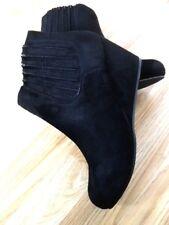 NEW Women Ultra-Light Black Ankle Elasticated Slip on Boot Wedge High Heel Size