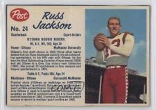 1962 Post Cereal CFL #24.2 Russ Jackson Ottawa Rough Riders (CFL) Football Card