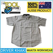 Makita Workwear Driver Khaki Short Sleeve Work Shirt