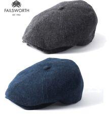 Failsworth Hudson Wool Tweed Cap 6 Panel Duckbill Newsboy  Shelby Peaky Cap