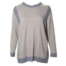 MARINA RINALDI Women's Brown Abilita Sweater W/ Snood Scarf $370 NWT