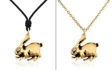 Rabbit Handmade Brass Necklace Pendant Jewelry