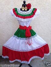 MEXICAN DRESS FIESTA,5 DE MAYO,WEDDING OFF SHOULDER MEDIUM SASH RUFFLE 2 PIECE