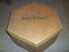 Vintage?? Used Nova Gilmer Hat Box only good for decor