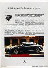 2007 Mercedes Benz CL550 - pillarless -  Vintage Advertisement Ad A36-B
