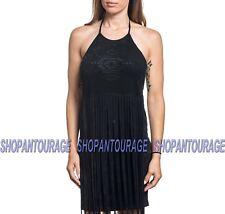 Affliction Havana Halter 111DR048 New Fashion Sleeveless Black Dress for Women