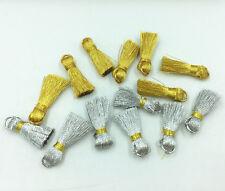 Mini Gold und Silber Quaste Bookmark tassels Schmuck Zubehör Handwerk DIY