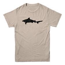 Shark Silhouette Fishing Boat Outdoors Great White Mako Fisherman Men's T-shirt