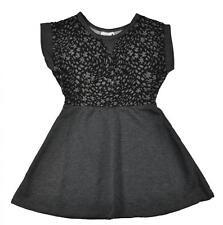 Hello Gorgeous Little/Big Girls Charcoal & Black Dress Size 4 5/6 6X 7 8/10 12