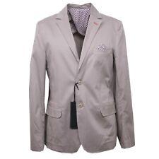 B4238 giacca uomo GIANNI LUPO DENIM VINTAGE tortora cotone jacket men