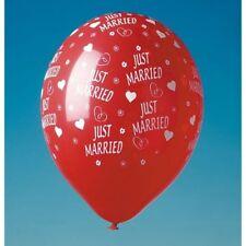 """Luftballon mit Druck """"Just Married"""" - Abnahmemenge: 1, 5 oder 100 Stück"""