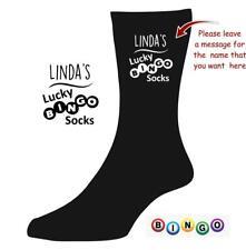 Personalised Lucky BINGO socks Grandma NANA GRANDAD Novelty XMAS Gift