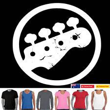 Funny T-Shirts Bass Guitar Print  music rock Metal Electric t shirt Acoustic Tee