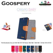 Samsung Galaxy S5/S7/S8/S9/S9+/S10e/S10/S10+ Goospery Canvas Diary Wallet Case