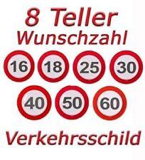 Geburtstag Party 1x1m abwaschbar Tischdecke Plastik Verkehrsschild Zahl 50 50