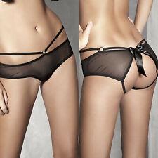 Shorty culotte sexy femme noire ouverte arrière ANAIS TESS 34 36 38 40 42 44 46