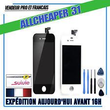 PANTALLA TÁCTIL VIDRIO LCD IPHONE 4 4S EN MARCO REJILLA BLANCO NEGRO herramienta