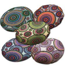 Flat Round Shape Cover*Dandelion Cotton Canvas Floor Seat Chair Cushion Case*AF7