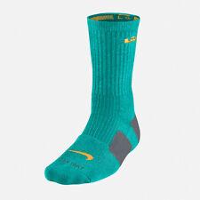 Nike Lebron Elite Basketball Crew Socks - Green Yellow - All Sizes - SX4696-388
