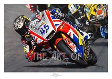 Scott Redding MotoGP Moto 2 2013 peinture à l'huile par Billy Fine Art Print