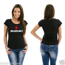 Damen T-Shirt Suzuki rot-weiß - Gr. XS - XL  kultig!!  Intruder GSX Savage