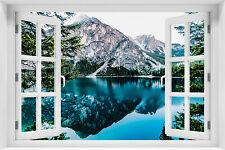 3D Wandillusion Wandbild FOTOTAPETE Poster Fensterblick Natur Wasser - kr-15